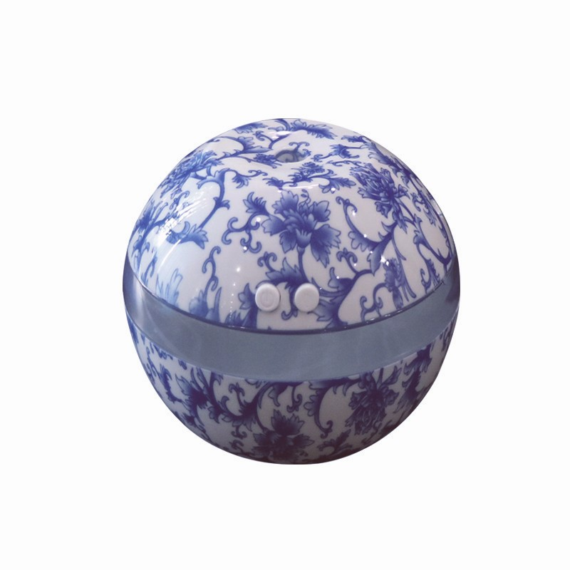 Blue and White Porcelain Humidifier Household Mini USB Ultrasonic Air Diffuser Desktop Office Humidifier Blue and white Porcelain humidifier