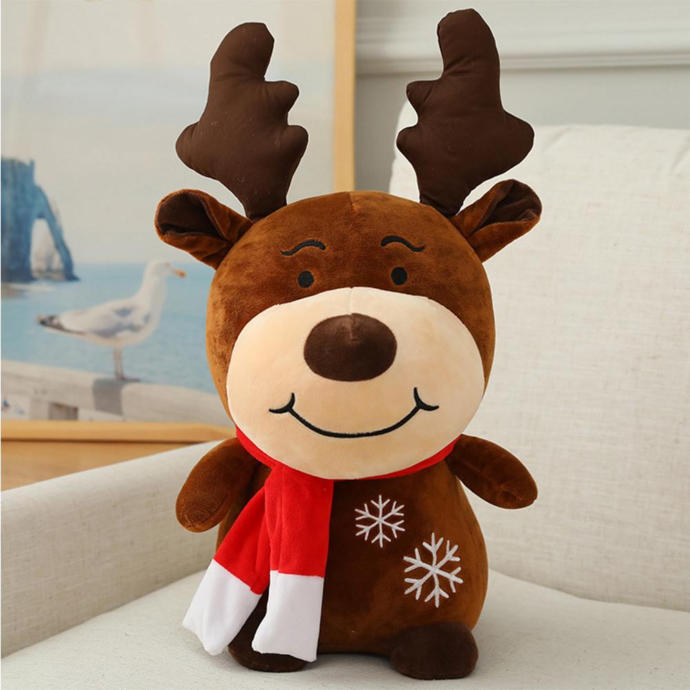 Stuffed Animal Plush Toy Santa Claus /Elk Shape Cartoon Doll Home Decoration Elk doll