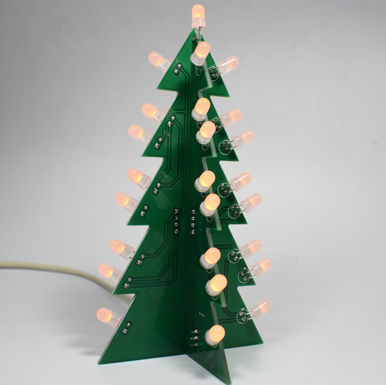 DIY Star Effect 3D LED Decorative Christmas Tree Kit yellow