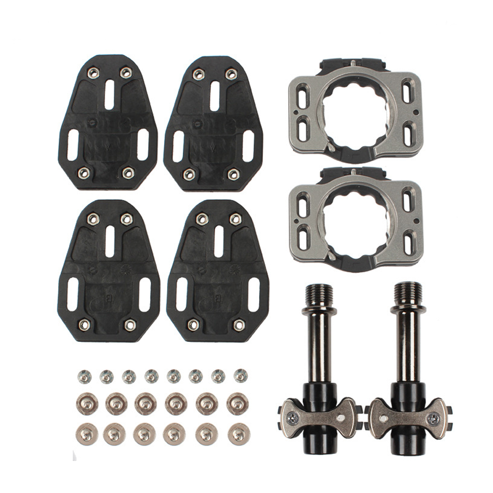 Titanium Alloy Lock Pedal Bicycle Rear Footrest Pedal Foot Pegs Sanpeilin Pedal Lock with Lock Piece Black (steel shaft)