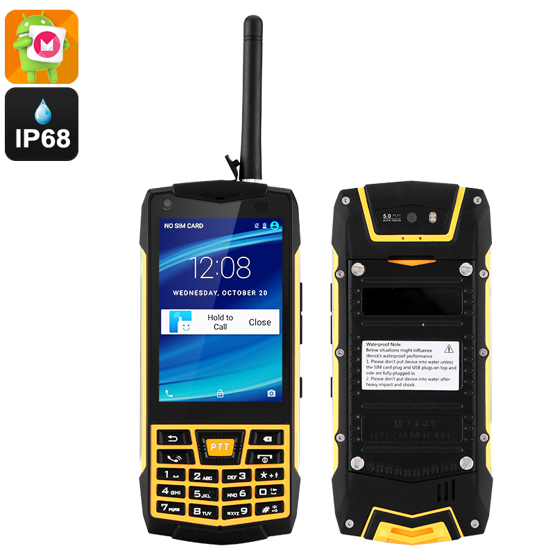 Fully Rugged Android Phone (Yellow)