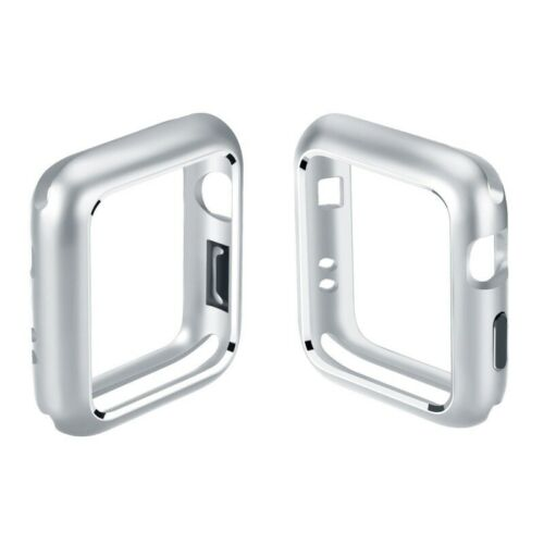 For Apple Watch iWatch Series 4/3/2/1 Magnetic Metal Bumper Case 38 40 42 44mm Silver_44mm