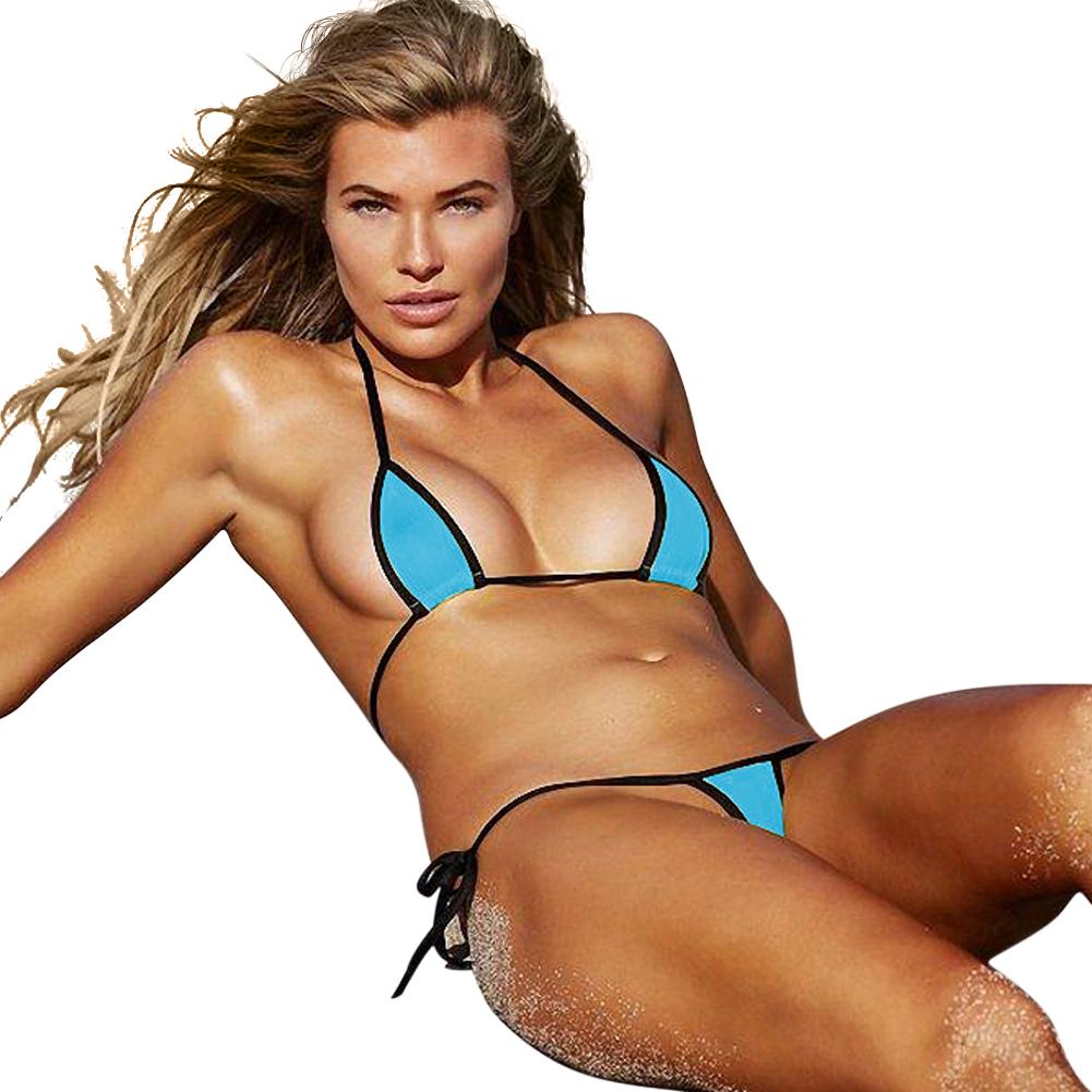 Women Sexy Color Maching Bikini Swimwear