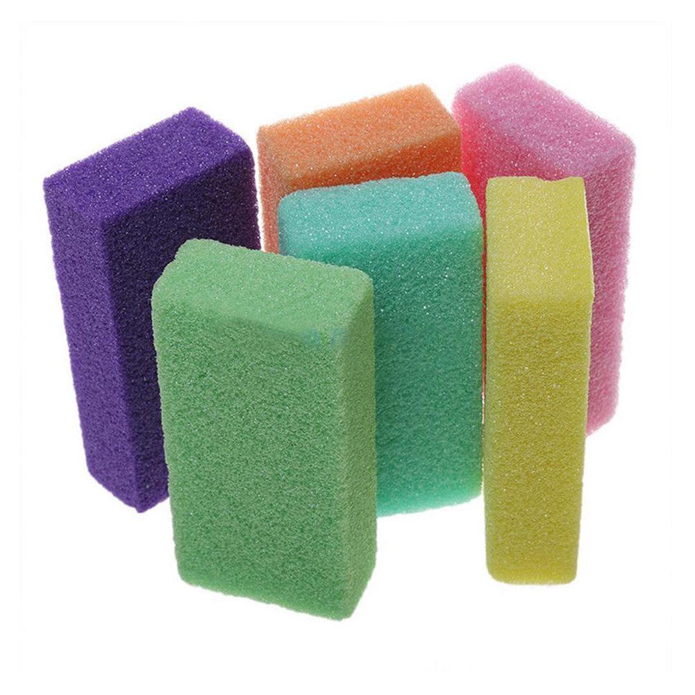10 Pcs Pumice Sponge Exfoliating Hard Dead Skin Callus Remover Scrub Pedicure File Random Color