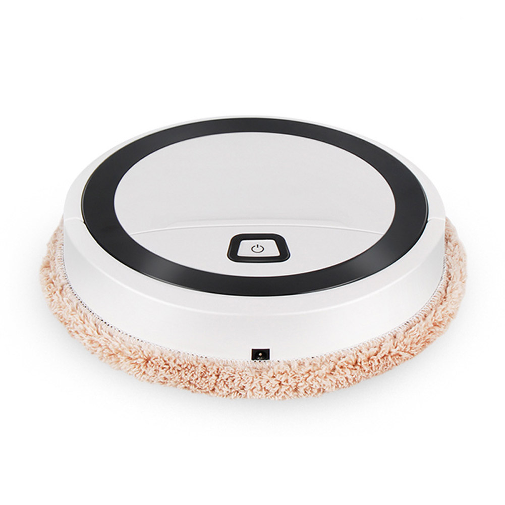 Smart Mop Machine Mini Mopping Robot Fully Automatic USB Charging Sweeper Vacuum Cleaner Mop machine (white)