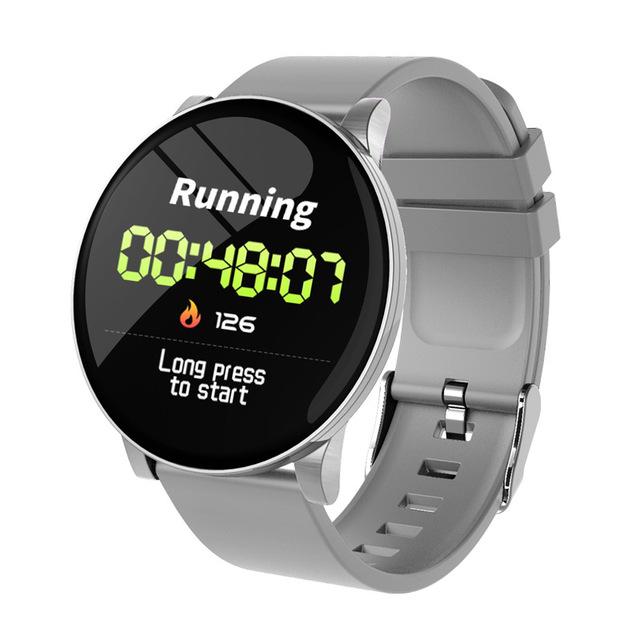 Smart Watch Women Men Watches Waterproof Fitness Tracker Bracelet Sports Heart Rate Monitor Smartwatch W8 Wristband  gray