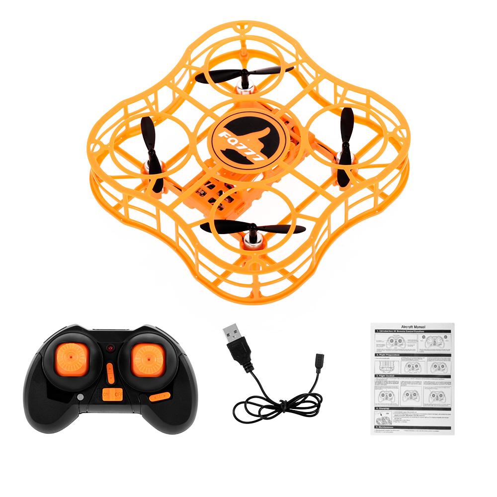 FQ777 FQ03 Mini Drone Full Shields 360 Flip One Key Return Drones Headless Mode RC Quadcopter for Beginner Orange