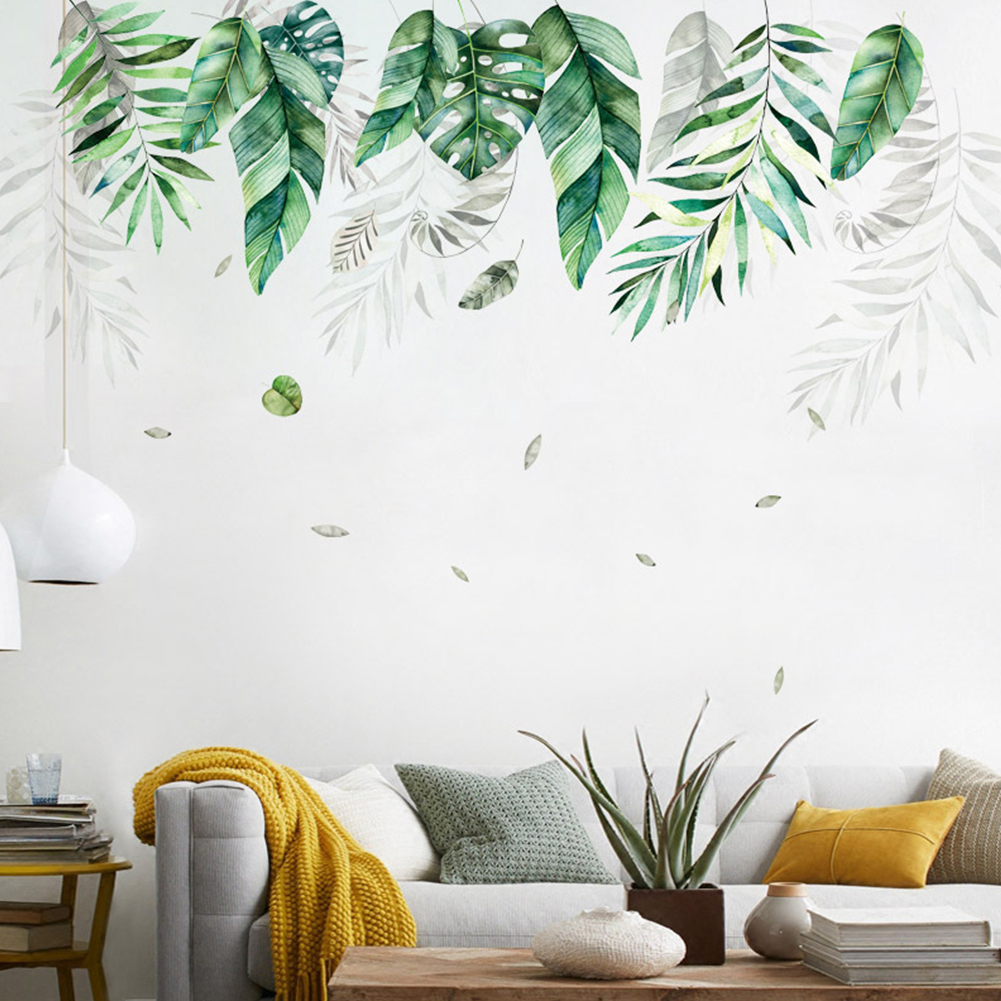 Removable Large Tropical Leaf Pattern Wall Sticker for Home Decoration FX82019