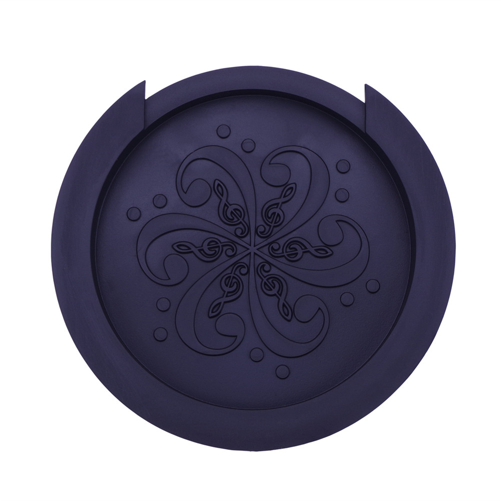 Silicone Acoustic Guitar Soundhole Cover Weak Sound Buffer Plug Guitar Accessory black_Large 40-41 inch guitar