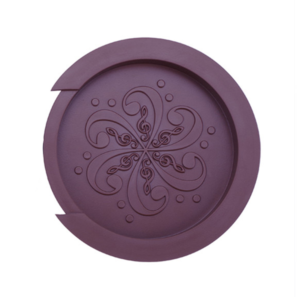 Silicone Acoustic Guitar Soundhole Cover Weak Sound Buffer Plug Guitar Accessory coffee_Large 40-41 inch guitar