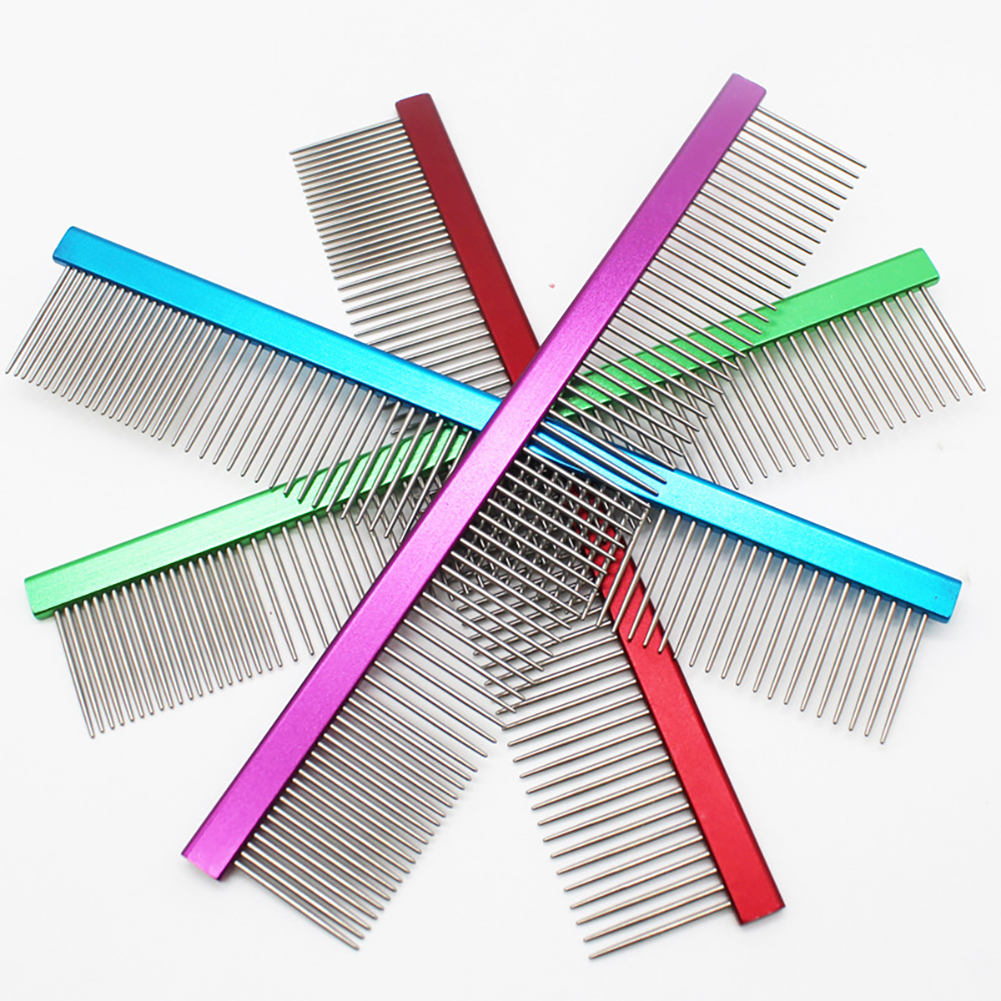 1Pc Aluminum Alloy Pet Dog Comb for Dogs Cats Hair Removal Grooming Tool
