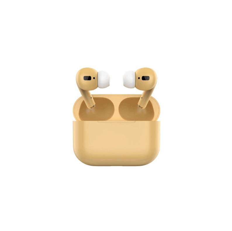 TWS Bluetooth 5.0 Wireless Earphone Macaron Earbuds with Charging Box yellow