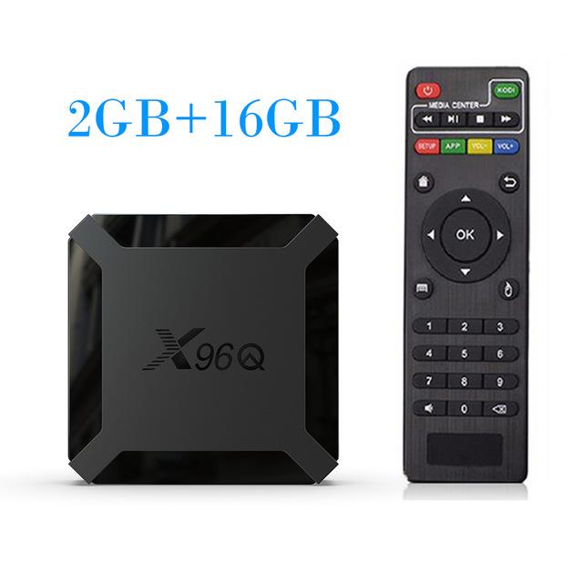 TV BOX Android 10.0 X96Q Allwinner H313 Quad Core 4K Smart Android TV 2.4G Wifi X96 Q Set Top Box U.S. regulations