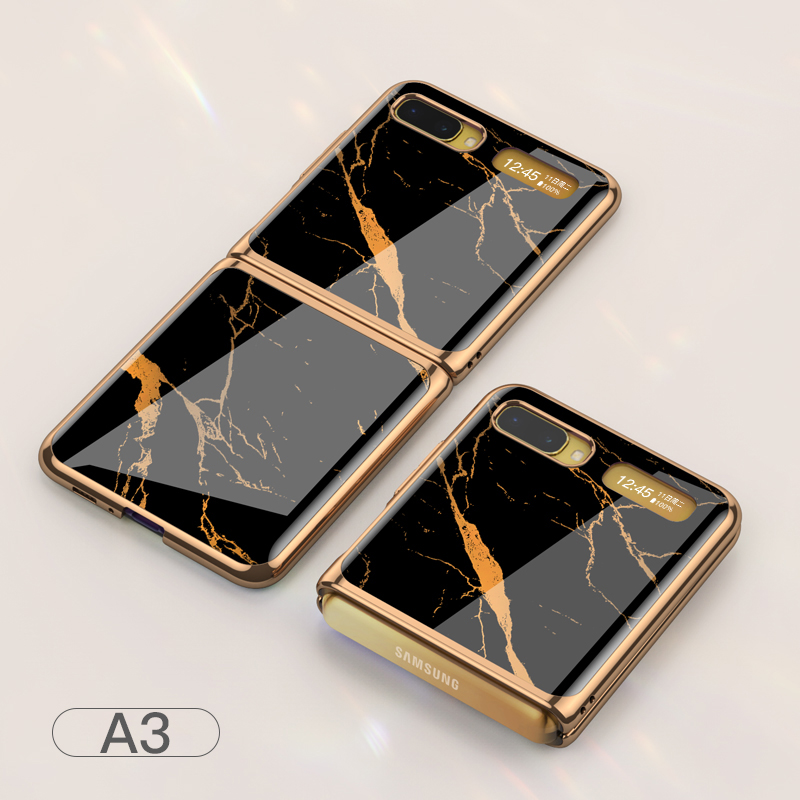 For Samsung Galaxy Z flip Foldable Cellphone Shell Electroplated Painted Folding Phone Case A3