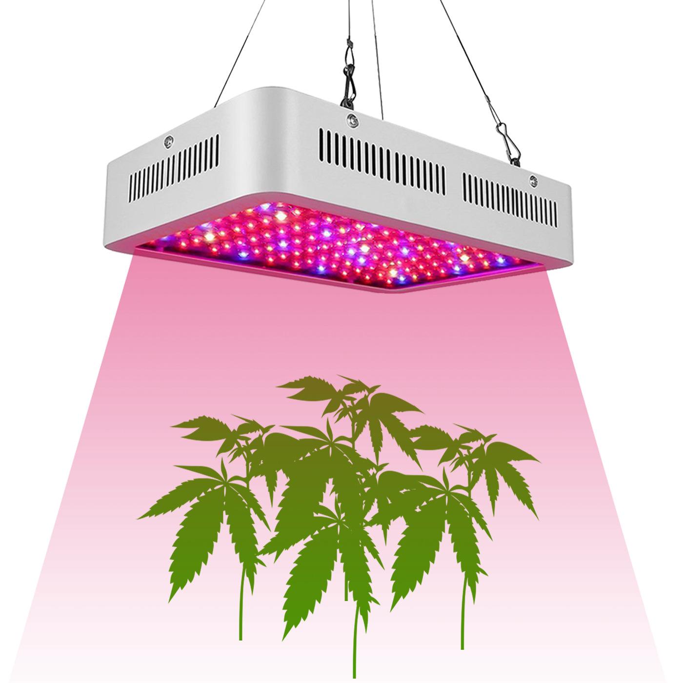 2Pcs 1200W LED Dual Chip Full Spectrum Plant Grow Lamp AC85-265V European regulations