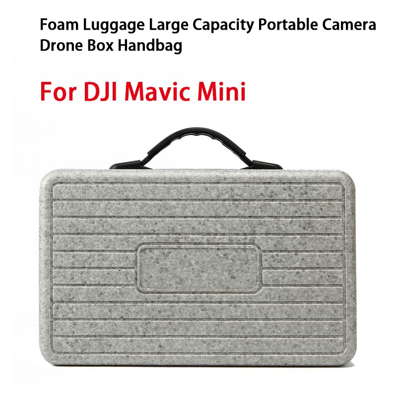 RC Drone Storage Case Foam Luggage Large Capacity Portable Handbag for DJI Mavic Mini Drone Camera Remote Control Device Accessory Organizer gray