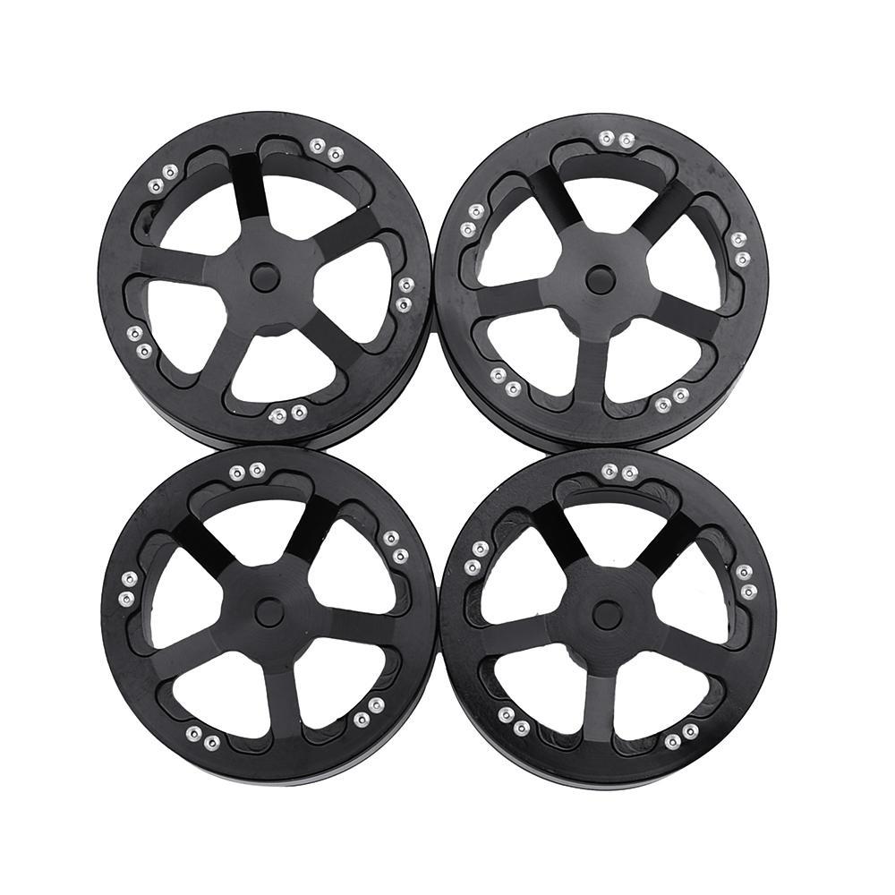 4PCS WPL Upgraded Aluminum Wheel Hub for B1 B16 B24 B36 C14 C24 1/16 Rc Car Parts black