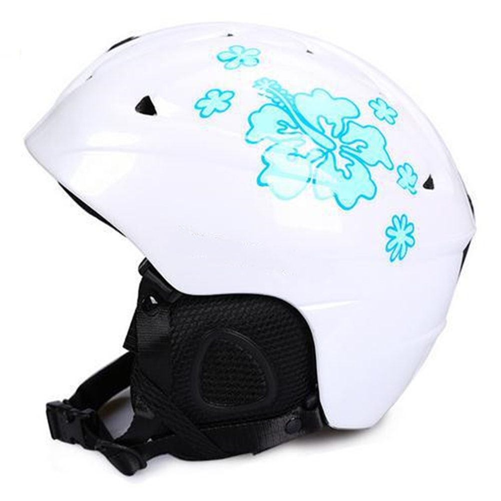 Integrated Molding Ski Helmet Safety Snowboard Helmet Protective Gear Equipment for Adult Children Pearl lotus_S
