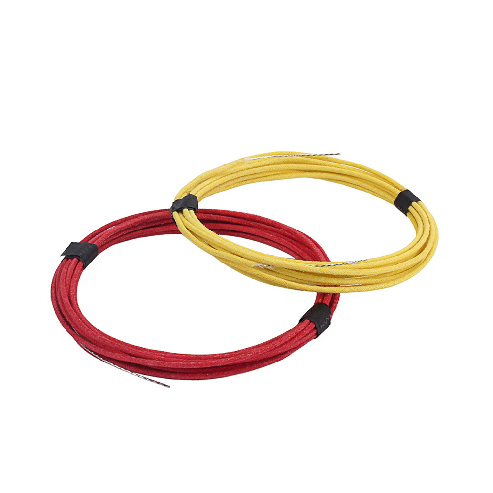 Vintage-style Cloth Covered Wire Single Core Copper Wire for Guitar Pickup 3 Meter Red + yellow