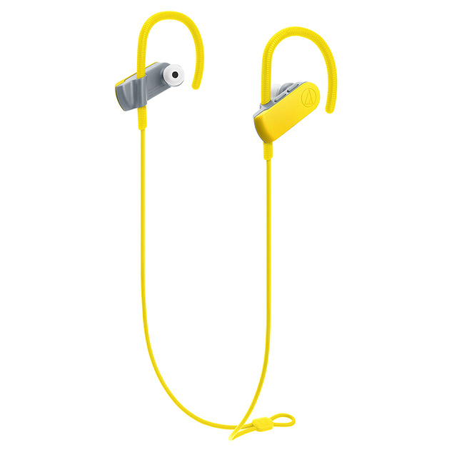 Original Audio-Technica ATH-SPORT50BT Bluetooth Earphone Remote Control Wireless Sports Headset IPX5 Waterproof For IOS Android Cellphone Yellow