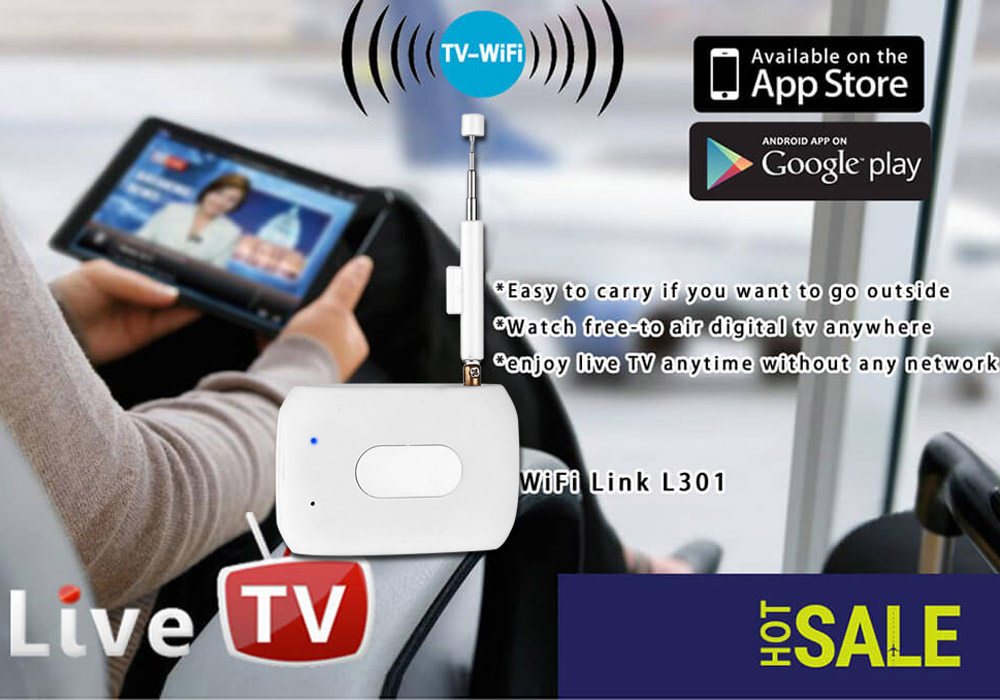 DTV Link - Supports DVB-T And ISDB-T, For Android And iOS, Private WiFi Network, Playback, Recording, Pause