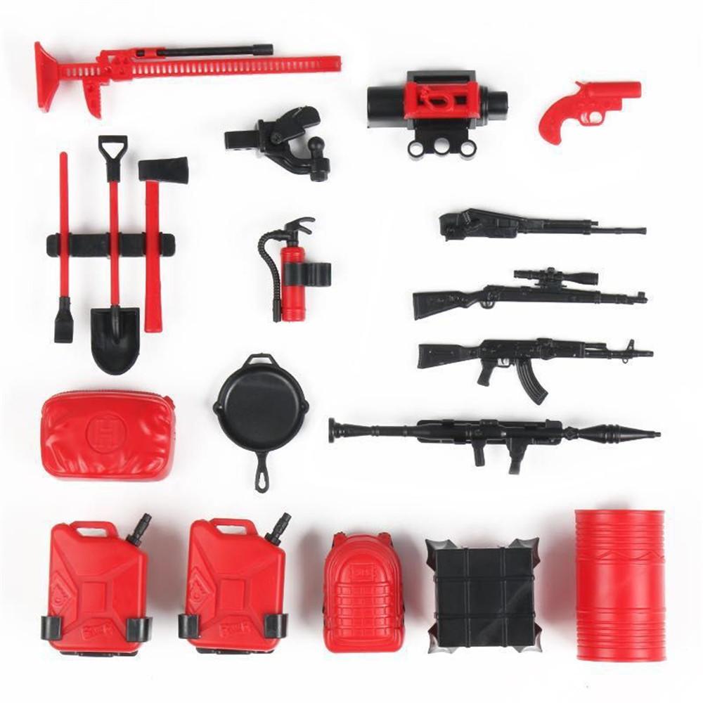 20PCS RC Decoration Tools for WPL B16 B36 C34 C24 JJRC Q65 4WD 6WD Car Spare Parts  default