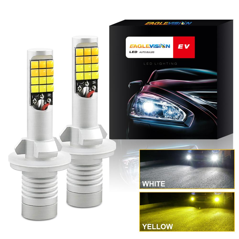 1 Pair Aluminum Car V6 High-brightness Dual-color Fog Lamp Car Light 880/881