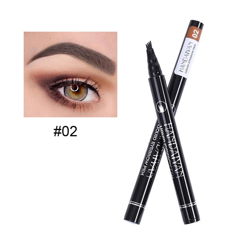 4  Fork  Eyebrow  Pencil Waterproof Long Lasting Liquid Ultra-fine Carved Eyebrow Pencil 2#