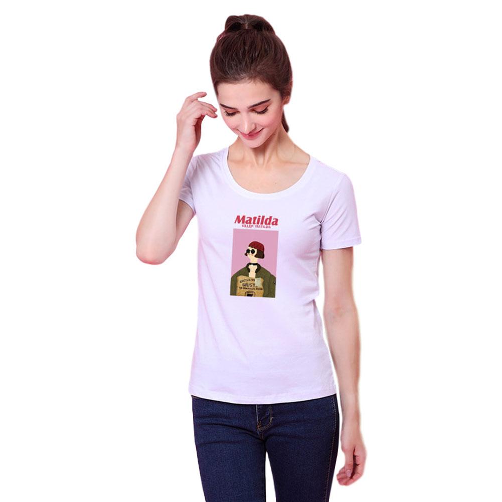 Women Men T Shirt Fashion Loose Short Sleeve Tops for Couple Lovers White female_L