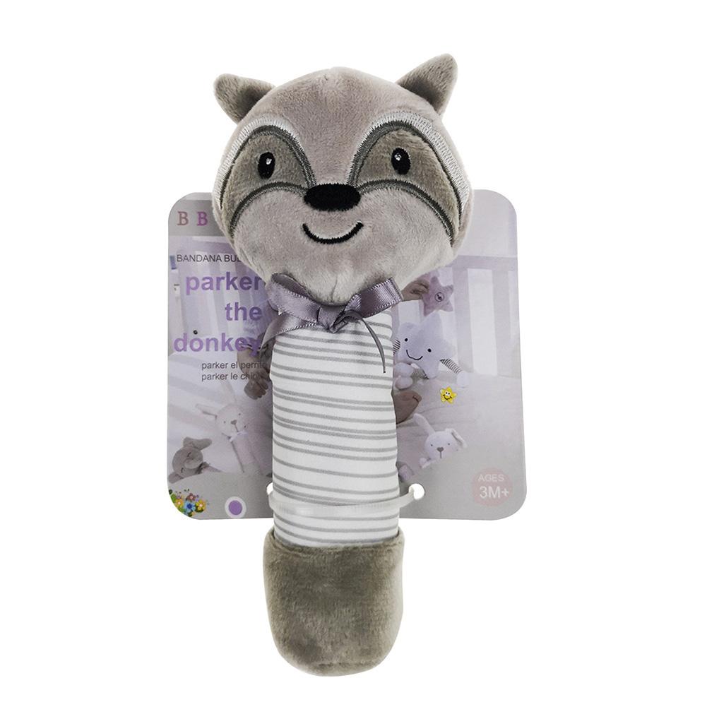 Newborn Baby Infant Cartoon Plush Animal Shaped Rattles Sound BB Toy Gift Civet cat