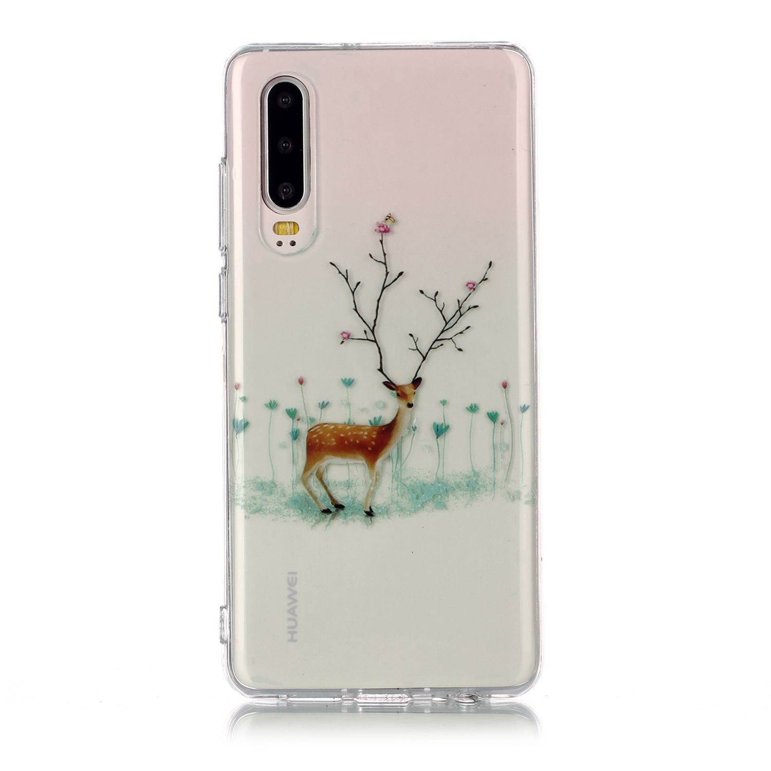 For HUAWEI P30 Christmas Phone Case Anti-fall Protective Shell Super Soft TPU Smartphone Cover Birthday Gift