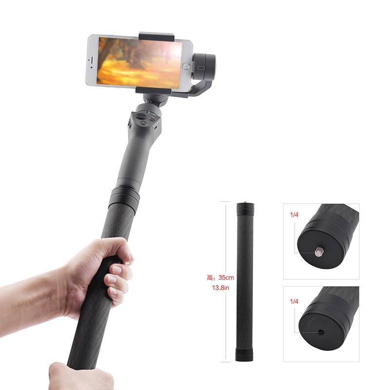 Carbon Fiber Extend Rod Pole Stick for Dji Ronin S Crane V2 2 Plus Feiyu G6 G5 AK4000 Moza Air 2 Telescopic Handheld Bar black