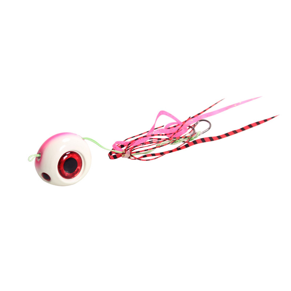 Fishing Hook With Fishing Bait Lead Tip Fishing Hook Pink back luminous_60G