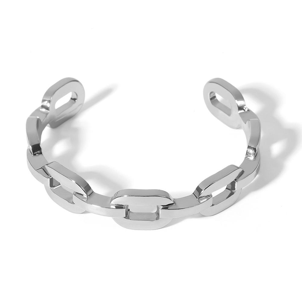Women's Bangle Alloy Exaggerated Geometric Metal Chain Open Bracelet