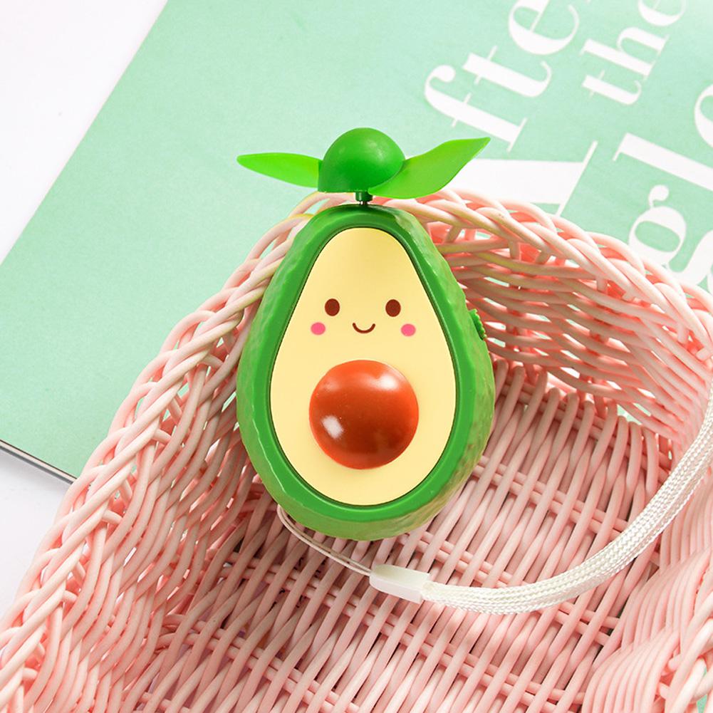 Mini Handheld Fan Avocado Shape Portable USB Charging Fan for Office Home Travel smile_9.5 * 6cm