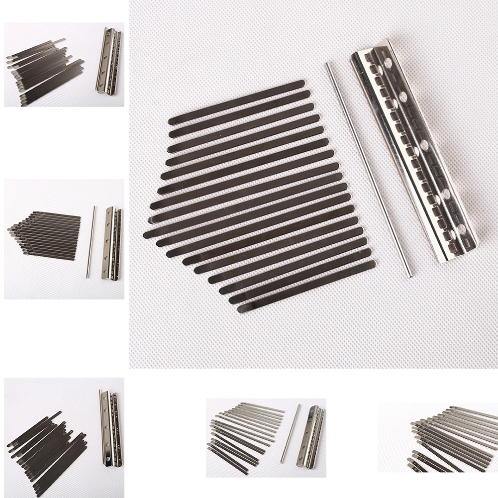17 Keys Kalimba Keyboard Manganese Steel Kalimba Key Chrome Music Instrument 17 keys without lettering
