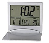 Mini Ultrathin Portable Digital LCD Thermometer Calendar Desk Alarm Clock , Display date/ time/ temperature
