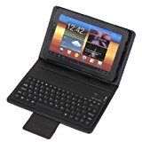 [US Direct] Wireless Bluetooth Keyboard + Leather Case Stand for Samsung Galaxy Tab 7.7