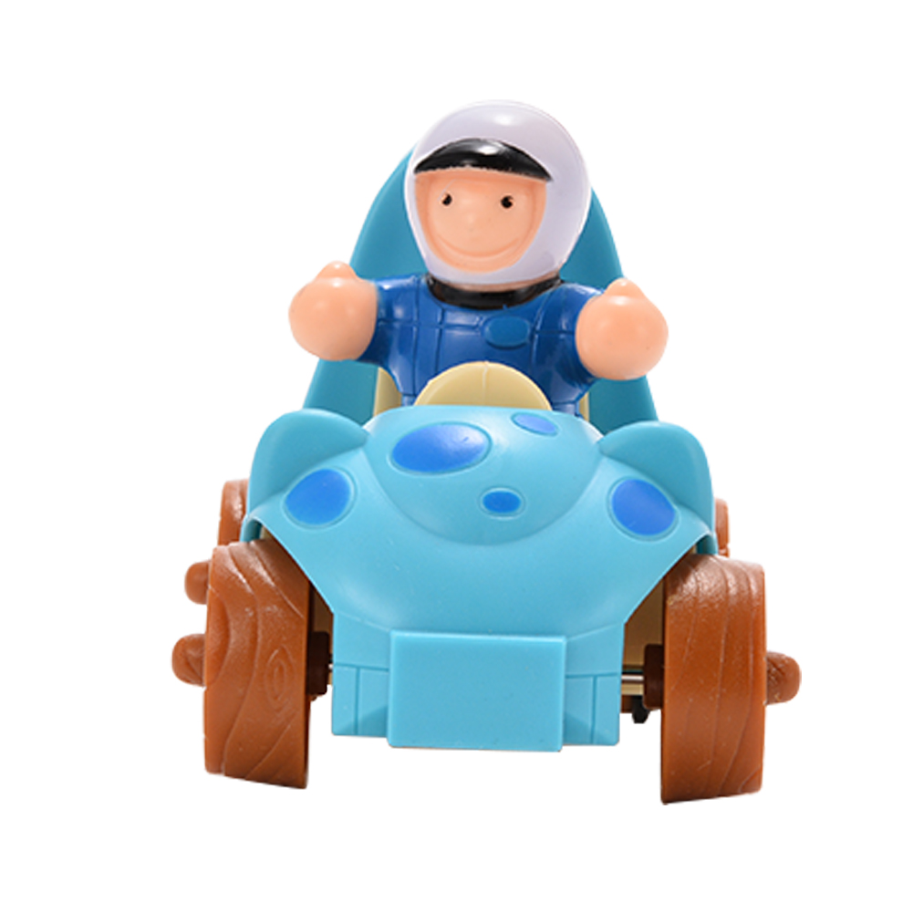 [US Direct] Cartoon pull back car with little princess parent product blue