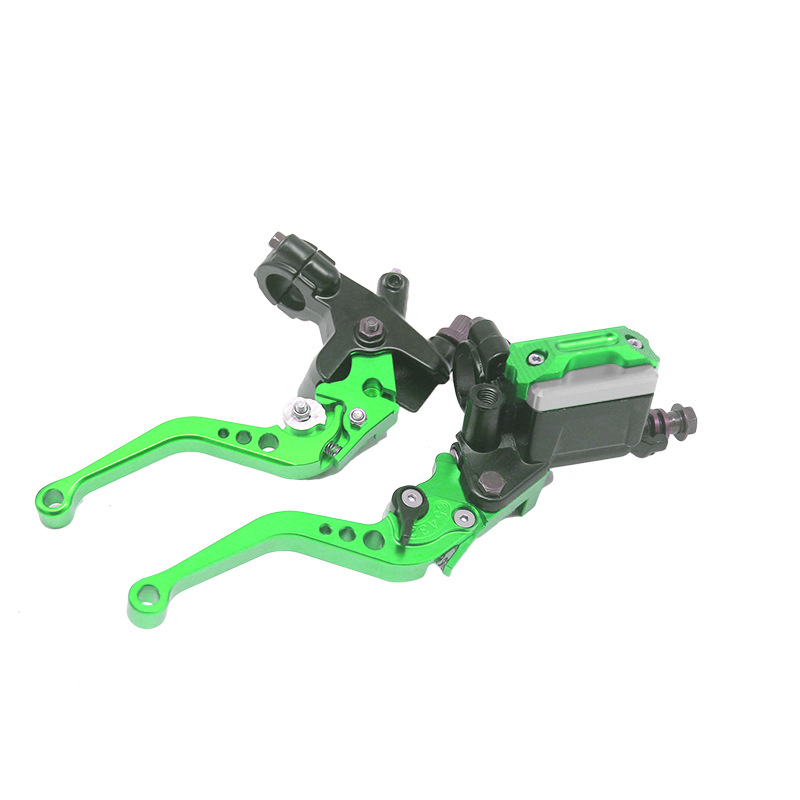 CNC Disc Brake Pump 7/8 22mm Hydraulic Adjustable Angle Clutch Assembly Off-road motorcycle general modification Green