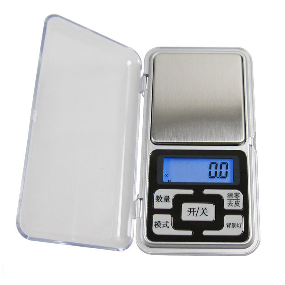 Mini Electronic Scales High Precision Jewelry Balance Kitchen Flavour Scale Pocket Digital Scale Kitchen Tools English 500g / 0.1g