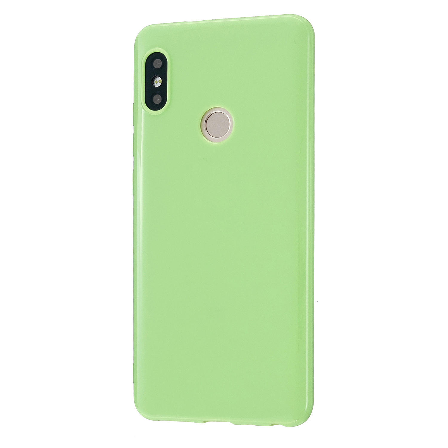 For Redmi GO/Note 5 Pro/Note 6 Pro Cellphone Cover Drop and Shock Proof Soft TPU Phone Case Classic Shell Fluorescent green