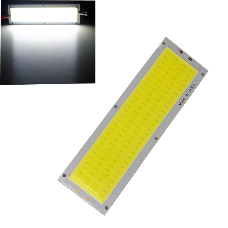 2pcs/Set 12V 10W COB LED Strip Lights Bulb 120x36mm Lamp 1000LM 6500