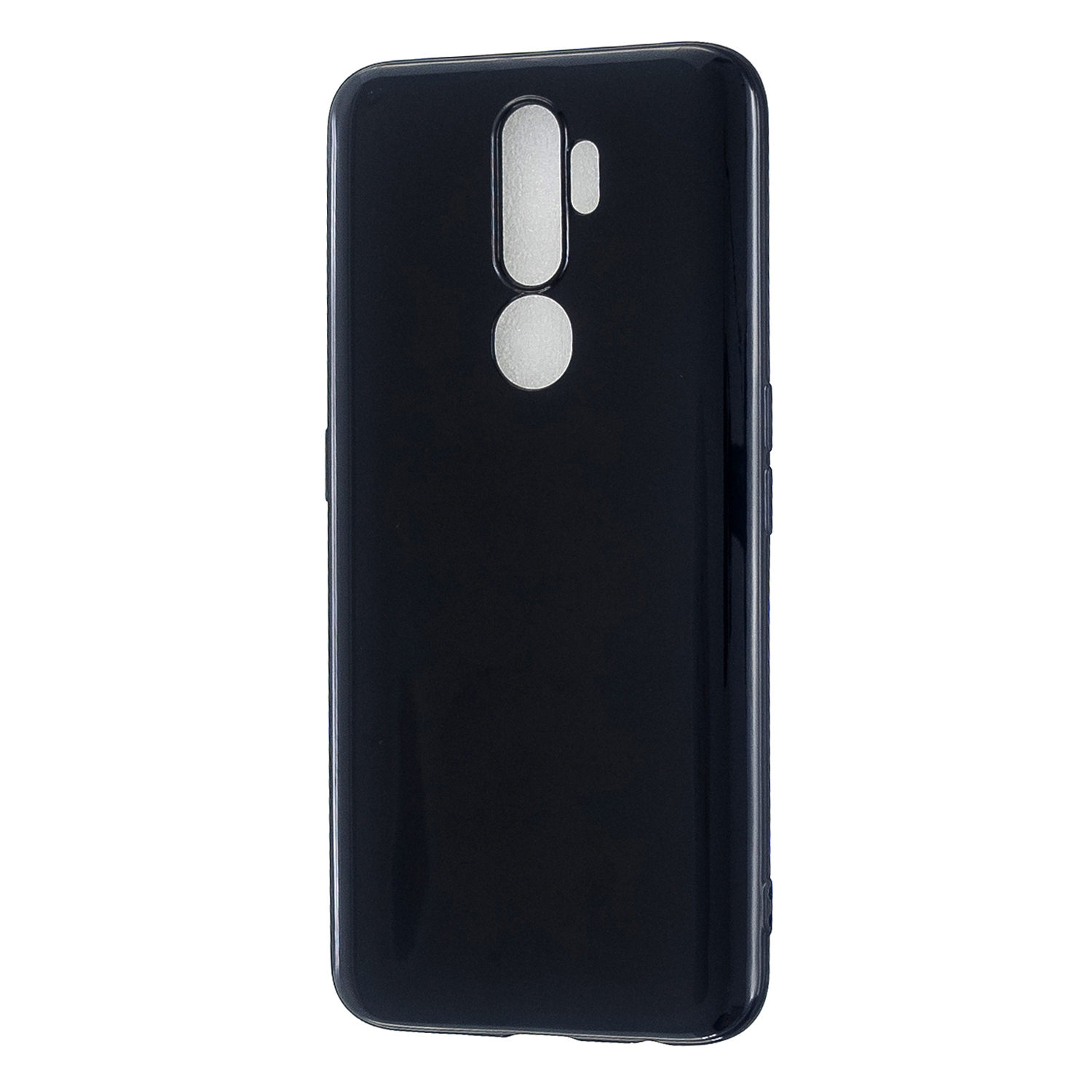 For OPPO A5/A3S/A9 2020 Cellphone Cover Soft Touch Anti-scratch Shockproof TPU Mobile Phone Case  Bright black