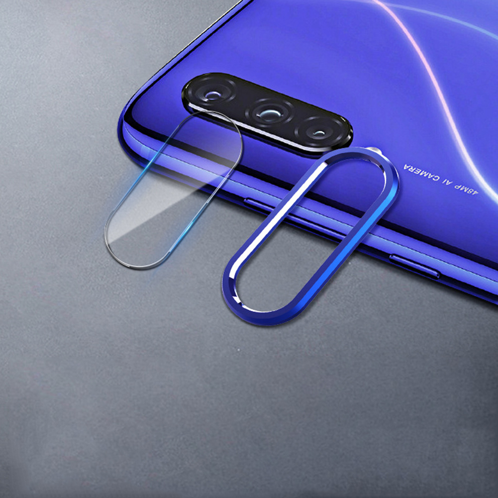 Solid Color Rear Camera Lens Protective Film+Ring for Xiaomi 9/9SE Redmi note 7pro Xiaomi cc9 [dark blue]_Lens ring + lens film