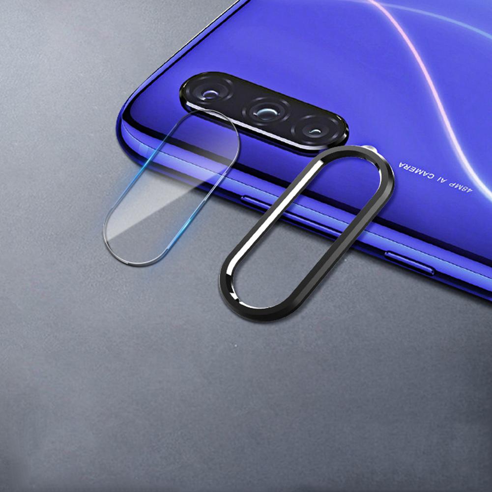 Solid Color Rear Camera Lens Protective Film+Ring for Xiaomi 9/9SE Redmi note 7pro Xiaomi cc9 [bright black]_Lens ring + lens film