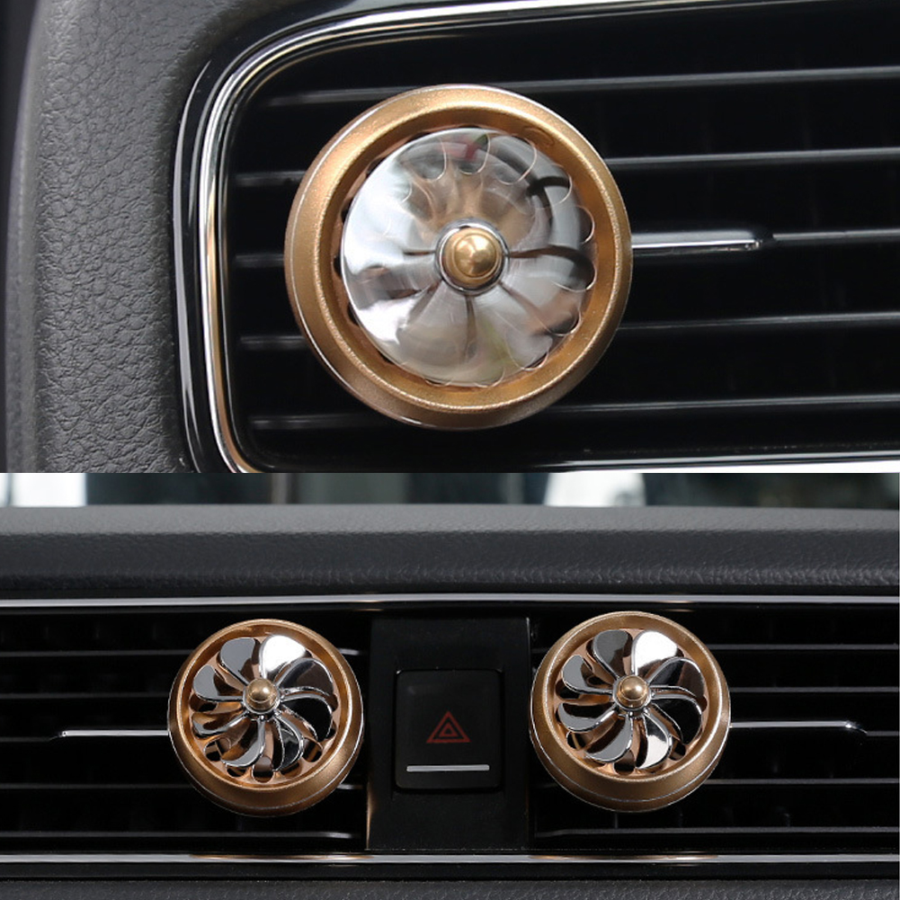 Air Freshener Car Air Perfume Mini Conditioning Vent Outlet Perfume Clip  No. 8 with lights ( gold)