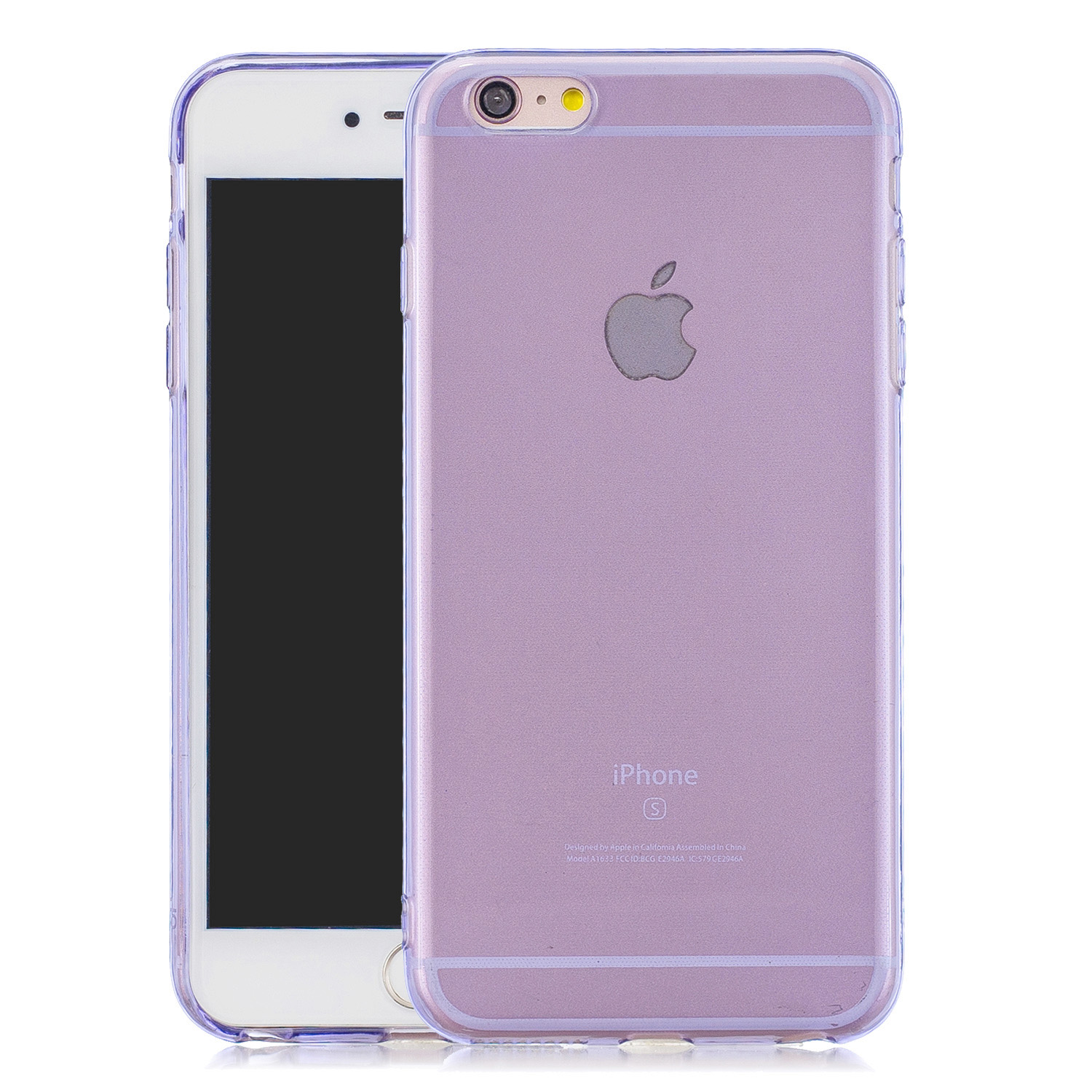 for iPhone 6/6S / 6 Plus/6S Plus / 7/8 / 7 Plus/8 Plus Clear Colorful TPU Back Cover Cellphone Case Shell Purple