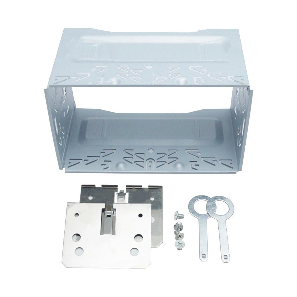Car Radio 2DIN Installation Metal Cage Kits Brackets/Screws/Keys for Volkswagen Series Jetta Chico Golf Silver