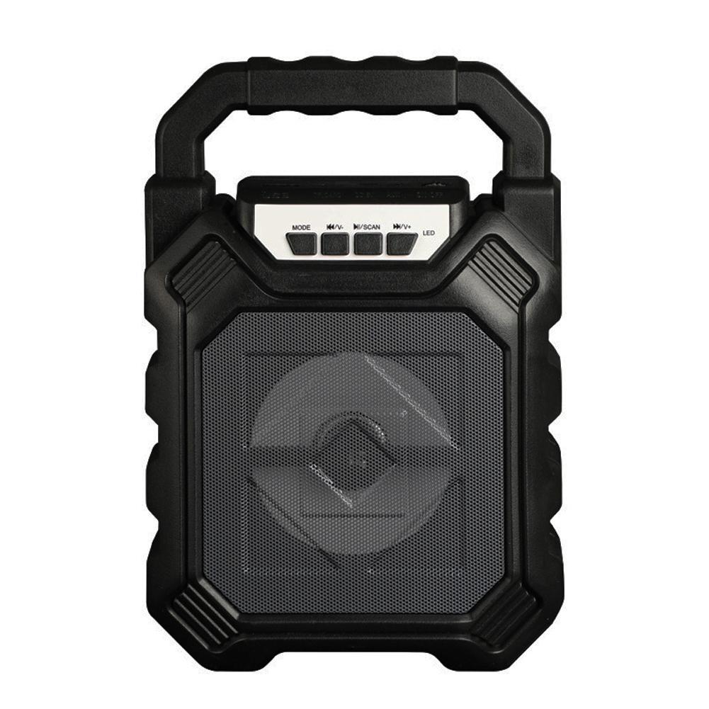 Outdoor Portable Wireless Bluetooth Speaker Can Insert Tf Card Usb Flash Disk High Power Loudspeaker black
